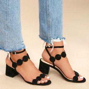 SOLE SOCIETY Soshea Suede Strappy Heel Sandal